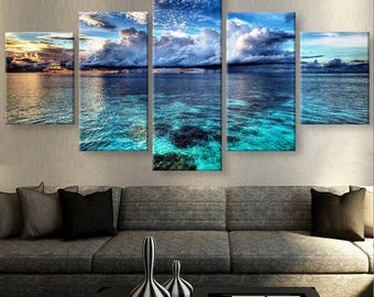 Beach Canvas Art Wall Large Painting
