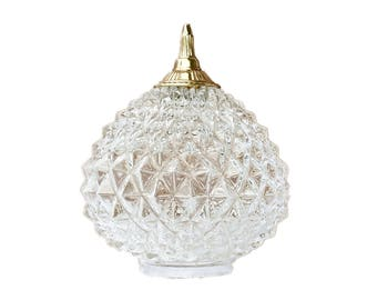 Vintage Cut Glass Globe Shade, Ceiling Globe Light Cover, Light Globe, Ceiling Lamp Fixture Cover, Glass Globe, Ceiling Light, Glass Shade