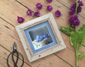 Tiny Flowers picture, handmade frame