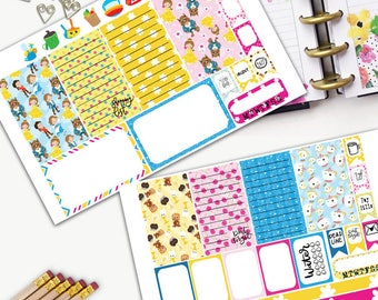 Beast Gaston Theme Planner Weekly Sticker SMALL Kit, CLASSIC Happy Planner Sticker, Weekly Set, Stickers, Printed, Cut, Prince, Lumiere