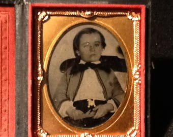Antique Tin Type Photo in Case