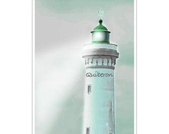 A4 illustration Quiberon Lighthouse photo poster print