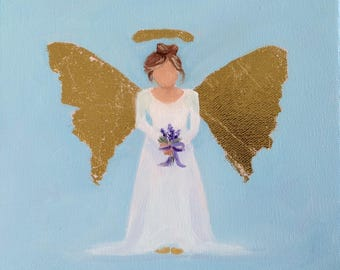 Angel with Lupine