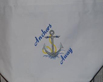 Embroidered tote,Boat tote, Beach Tote, tote bag, Beach bag,