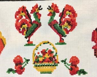 Vintage Folk Tablecloth
