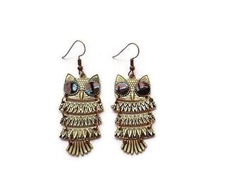 Pair of OWL earrings