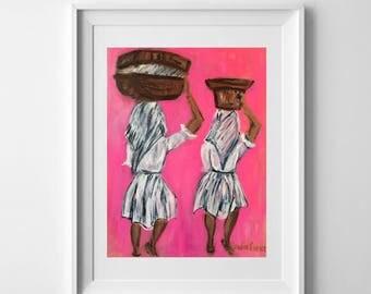 """Art Print """"Barefoot & Strong"""""""