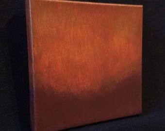 Ambient Painting 2017 #18 (Cauldrone) - square acrylic on canvas dark red and dark orange small
