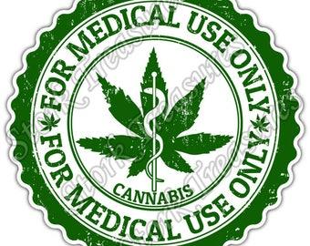Marijuana Cannabis Medical Use Drug Weed Pot Car Bumper Vinyl Sticker Decal Part 91