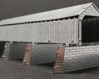 Cynthiana Covered Bridge Metal Model