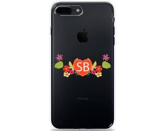 iPhone 7 Case CLEAR iPhone 8 Case INITIALS iPhone X Case iPhone 6s iPhone 6 iPhone SE iPhone Plus Case iPhone 5s iPhone 5 Case for Galaxy S8