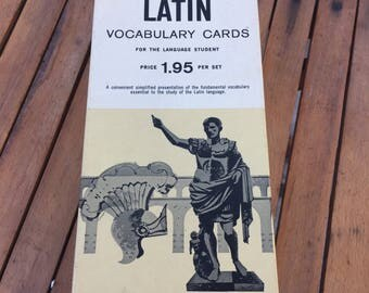 Vintage Retro Vis-Ed LATIN Vocabulary Cards for the language student 1960's