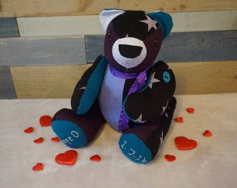 Weighted Memory Bear, Keepsake Bear, Memory Bear, Baby Shower Bear, Bridal Shower Bear, Baby Keepsake Bear, Angel Baby, Rainbow Baby