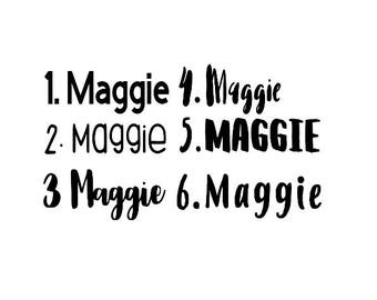 Name Decal, Name Laptop Sticker, Personalized Name Decal, Sticker, Decal, Word Decal, Any Word Decal