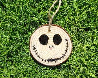 Jack Skellington wood slice ornament #2