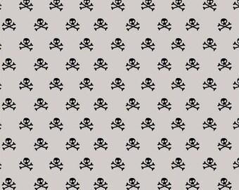 Grey Military Skulls by Military Max from Riley Blake 112cm (w) x 25cm