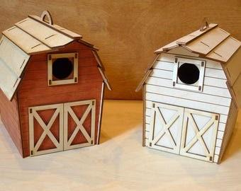 Cute Barn Birdhouse