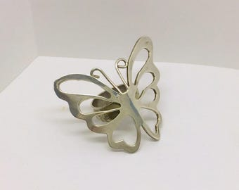 haute couture sterling silver butterfly ring #104