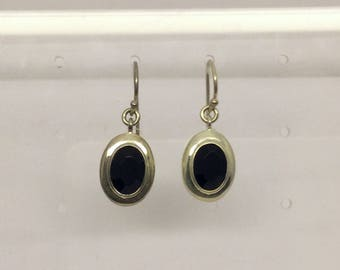 sterling silver onyx  earrings #453