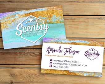 Authorized Scentsy Business Card • DIGITAL FILE ONLY - Double sidd business card - Printable