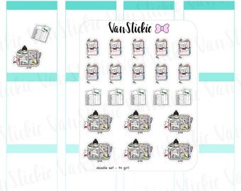 Doodle Set - TN girl Planner Stickers | VSD 048