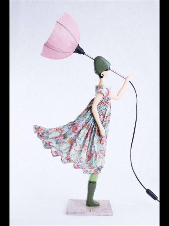 umbrella little girl table lamp myrto nursery decoration. Black Bedroom Furniture Sets. Home Design Ideas