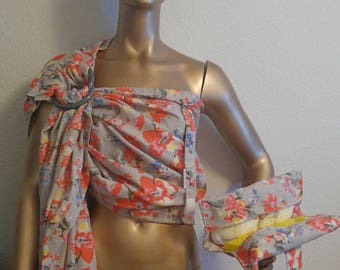 Wrap-Sew-Dee Ring-Sling Set in Coral Floral