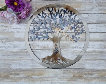 Iron Anniversary, Tree of Life, Metal Sign, Family Tree Metal Wall Art, Family decor, Wedding Gift