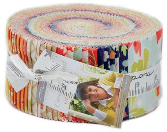 "Last One - Coney Island Jelly Roll by Fig Tree Quilts for Moda - Joanna Figueroa -2.5"" Strips - Jelly Rolls - Precuts - 100% Cotton"
