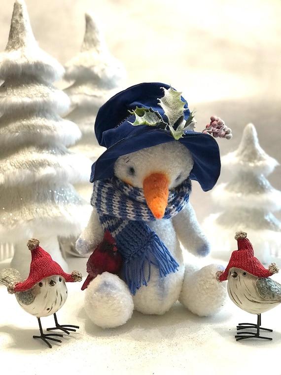 Ooak artist handmade snowman.
