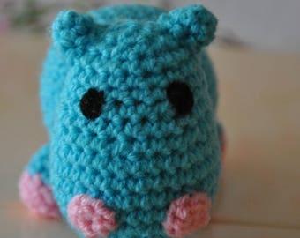 Little Hippo crochet wool blanket