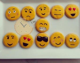 Emoji iced biscuits   cookies birthday gift set