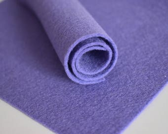 Lavender Wool Felt Sheet - 1mm A5 size - 15cm x 20cm