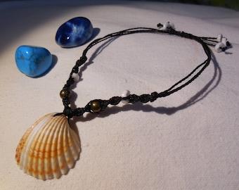 Macrame Anklet / Foot bracelet / Handmade / Seasun Shell / Goodfortune