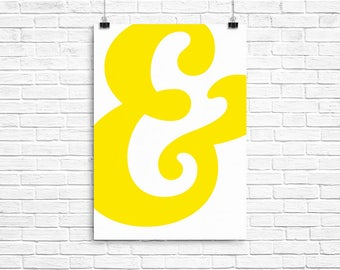 Yellow Ampersand Poster - A2