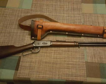 Leather model 94 Rifle scabbard, hand made in the USA
