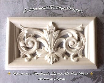 Handmade Victorian Plaster Air Vent Cover