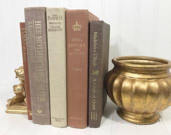 Brown Vintage Decorative Book Set