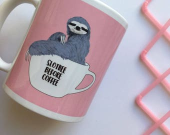 "Central 23 Sloth Mug ""Slothee Before Coffee"""