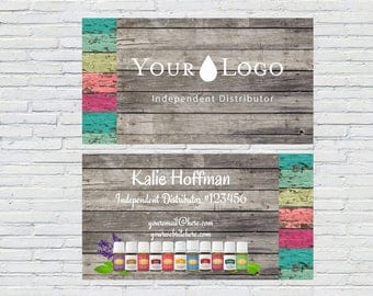 Essential Oils|Business Card, Multi Wood, Printable, Download, Rustic Wood, Independent Distributor, Wellness Advocate, Blogger, Business