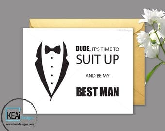 Will You Be My Best Man INSTANT DOWNLOAD // Will you be my groomsman // Will you be my groomsman funny printable // DIY Wedding - KEAi