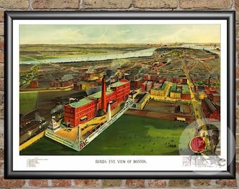 Boston, Massachusetts Art Print From 1902 - Digitally Restored Old Boston, MA Map Poster - Perfect For Fans Of Massachusetts History