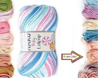 NAKO  lolipop, premium acrilic yarn, anti allergenic yarn, Baby Yarn, soft yarn, baby accessories, baby hat, baby sock yarn. acrilic yarn