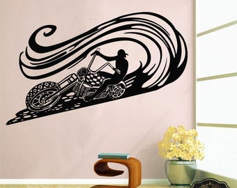 Charming Wall Decal Motorcycle Decals Motorbike Decal Harley Wall Decal Harley  Davidson Wall Decal Motor Bike Vinyl Part 21