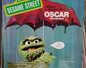 Sesame Street Oscar The Grouch Let A Frown Be Your Umbrella CTW Records 22061 Sing-A-Long LP