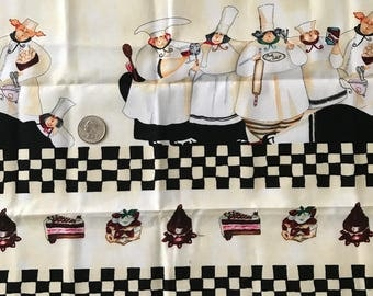 Cotton Fabric Quilting Chefs - Deserts