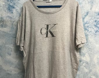 FREE SHIPPING!!!Vintage 90's Calvin Klein Jeans shirt size Large-Extra Large