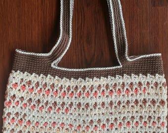 Crochet Moroccan Tote 100% Cotton