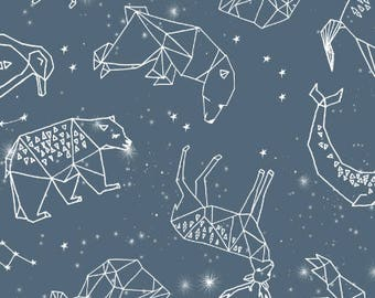 constellations by Andrea Lauren -  animal geometric origami illustration blue sky night sky kids nursery baby