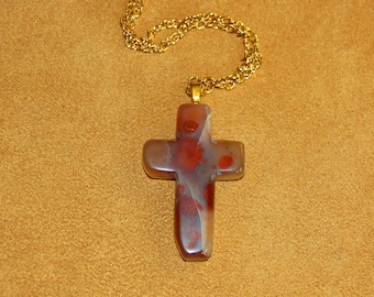 198 Pigeon's blood cross gold
